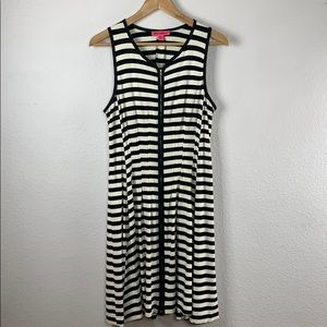 Betsey Johnson Contrast Stripe Fit and Flare Dress
